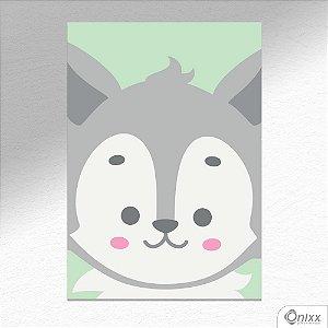 Placa Decorativa Série Animais Em Destaque ( Lobinho ) A4
