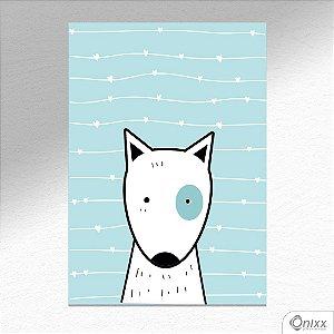 Placa Decorativa Série Animais Fofos ( Cachorro ) A4