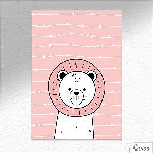 Placa Decorativa Série Animais Fofos ( Leão ) A4