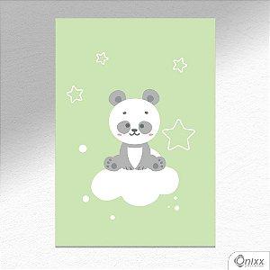 Placa Decorativa Série Animais Legais ( Panda ) A4
