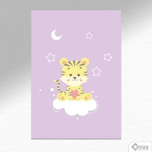 Placa Decorativa Série Animais Legais ( Tigre ) A4