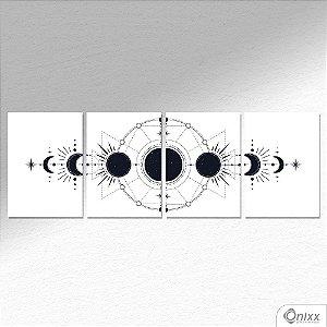 Kit de Placas Decorativas Lunar A4