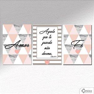 Placa Decorativa Amor e Fé A4