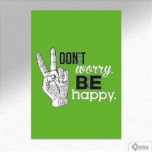 Kit de Placas Decorativas Don't Worry Be Happy A4