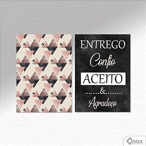Kit de Placas Decorativas Entrega E Confia A4