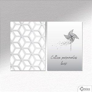 Kit de Placas Decorativas Cultive Pensamentos A4