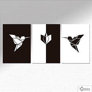 Kit de Placas Decorativas Beija Flor A4