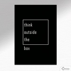 Placa Decorativa Think Outside The Box A4