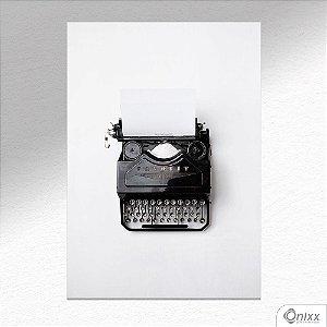 Placa Decorativa Máquina De Escrever A4