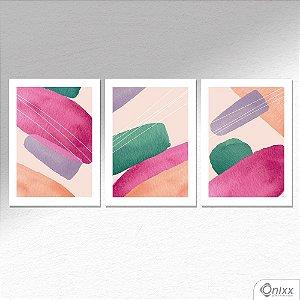 Kit de Placas Decorativas Pinceladas A4