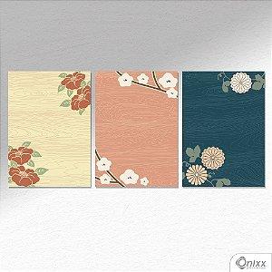 Kit de Placas Decorativas Japão A4