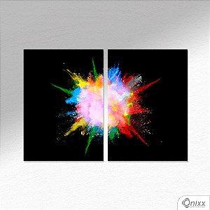 Kit de Placas Decorativas Color Explosion In Black A4