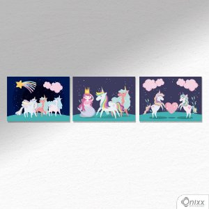 Kit de Placas Decorativas Unicorn Nigth A4