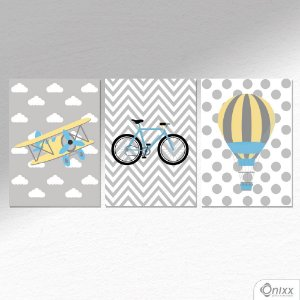 Kit de Placas Decorativas Gray Boy A4