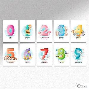 Kit de Placas Decorativas Números A4