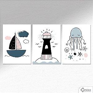 Kit de Placas Decorativas Sea Composition A4