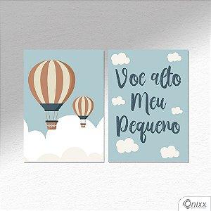 Kit de Placas Decorativas Voe Alto Meu Pequeno A4