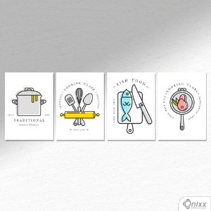 Kit de Placas Decorativas Cheef Utensils A4