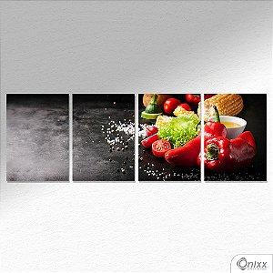 Kit de Placas Decorativas Vegetais A4