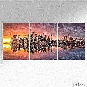 Kit de Placas Decorativas Espelho D´Água NY A4