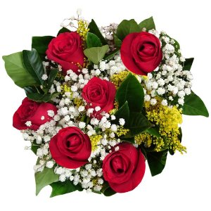 Buquê Rosas Nacionais ( 6 Rosas )