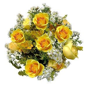 Buquê Rosas Amarelas Nacionais ( 12 Rosas )
