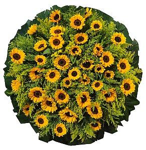 Coroa de Flores Com Girassóis.
