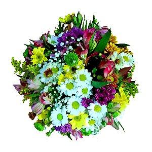 Mini Buquê com Mix Flores do Campo Selecionadas