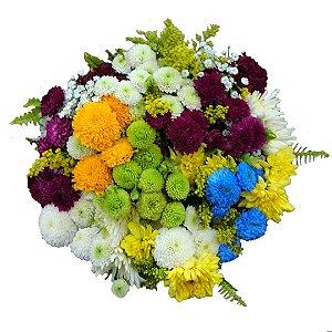 Buquê com Flores do Campo Colorido
