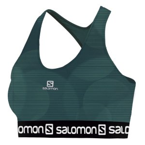 Top Feminino Salomon Impact Graphic Bra II Flou Waterfall