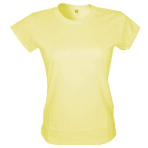 Babylook Poliester - Amarelo