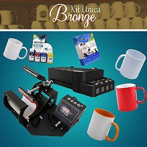 Kit Sublimação em Canecas e produtos cilindricos - Unica Bronze