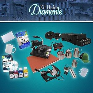 Kit Diamante Para Sublimação Prensa 8 em 1 + Impressora