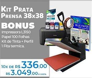 Kit Unica Prata Prensa Plana 38x38 + Impressora Sublimatica