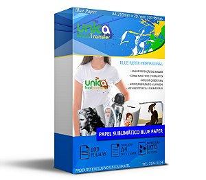 Papel Blue Paper 100 Folhas A4 Para Sublimação 110grs