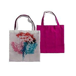 Eco Bag 35x35 Para Sublimação - Rosa Chiclete