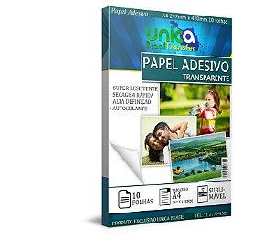 Papel Adesivo Transparente A4 - 10 Folhas