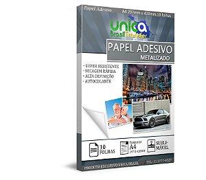 Papel Adesivo Metalizado A4 - 10 Folhas