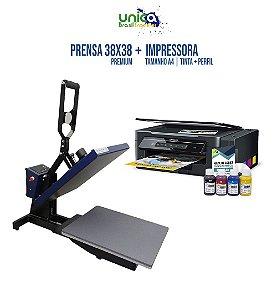 Prensa Premium 38x38 Com Gaveta Semi Automática + Impressora