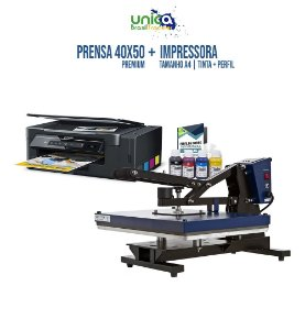 Prensa Premium 40x50 Com Gaveta Semi Automática + Impressora