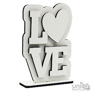 Placa de MDF - Love Vertical Resinada Para Sublimação