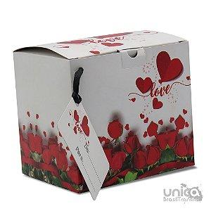 Caixinha Para Caneca Namorados Rosas - 12 Unidades