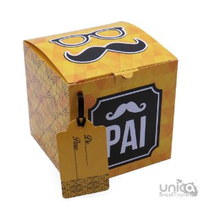 Caixinha Para Caneca Pai Amarelo - 12 Unidades
