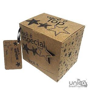 Caixinha Kraft Estrela Para Caneca - 12 Unidades