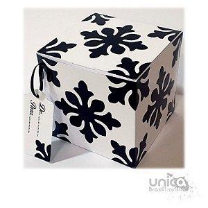 Caixinha Preto e Branco Mandala - 12 Unidades