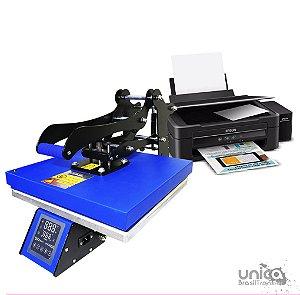 Prensa plana 38x38 Livesub com painel frontal touch screen + Impressora sublimatica