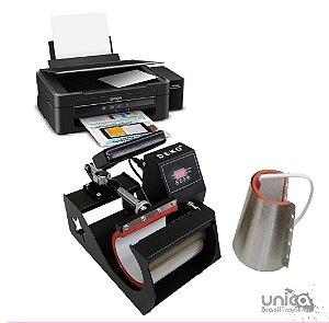 Prensa 2 em 1 Deko + Impressora sublimatica