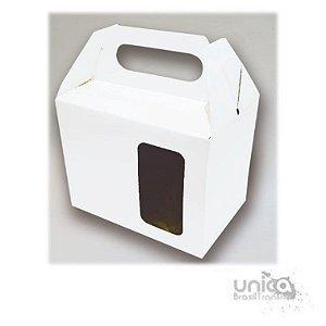 Caixinha Para Caneca Branca Com Visor -  12 Unidades