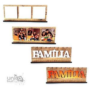 Porta Retrato MDF Aplique Família