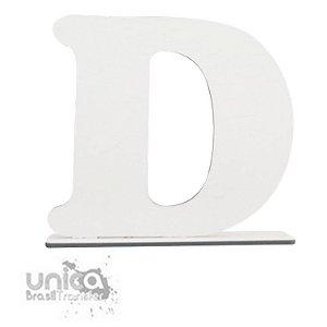 Letra D Resinado de MDF